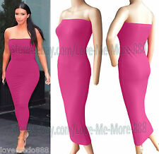 WOMEN Casual Off Shoulder Party Clubwear Slim Fitted Long Maxi BODYCON Dress (L)