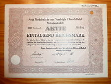 D: SCHIFFAHRT: Neue Norddeutsche und Ver. Elbeschifffahrt, Hamburg 1936, 1000 RM
