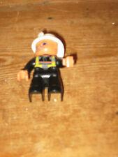 DUPLO LEGO Pompiere Elmetto Bianco Uomo Stand Sit playfigure set di ricambio sostituzione
