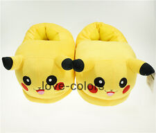 New Pokemon Pikachu Slippers Adults Indoor Plush Winter Shoes Cosplay Gift