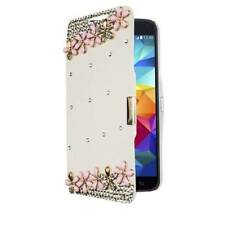 Flip Wallet White  Diamond For Samsung Galaxy Note 4 N9100 Pu Leather Cover Case