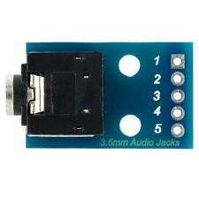 3.5mm Audio Jack to DIP Adapter Board Breadboard 2-Channel Socket Breakout YG