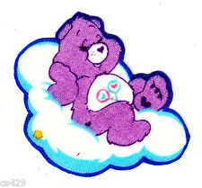 """2"""" CARE BEARS FRIEND BEAR ON A CLOUD  CHARACTER NOVELTY FABRIC APPLIQUE IRON ON"""