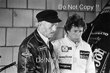 Mario Andretti & Colin Chapman JPS Lotus F1 Portrait 1978 Photograph