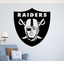 Oakland Raiders Wall Decal Vinyl Sticker NFL Football Emblem Sport Home Decor