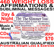 *SALE* 2x CD WEIGHT LOSS AFFIRMATIONS & SUBLIMINAL + mp3 SET HYPNOSIS WEIGHTLOSS
