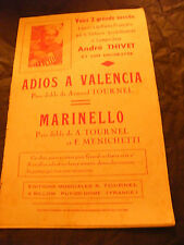 Partition Adios a Valencia Armand Tournel Marinello Menichetti