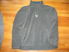 Men's Columbia West Virginia Gray 1/2 Zip Up Fleece Jacket Size L Good Condition