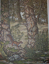 """Warming up Red Squirrel""by Christine Marshall Ltd Edition ARP Lithograph #15/25"