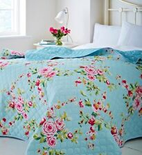 Catherine Lansfield Home Canterbury Quilted Bedspread, Multi/Blue 240 x 260 Cm