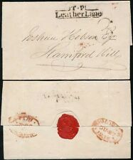 GB 1834 LONDON LOCAL POST VERY FINE TP LEATHER LANE