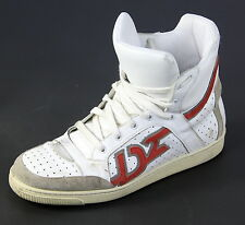 * DSQUARED2 * Dsquared White Distressed Leather High-Top Sneakers Men's US 10