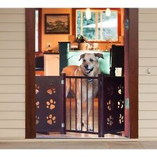 Indoor Pet Gate Dog Cat Paw Safety Secure Convenient Portable Stairway Contain