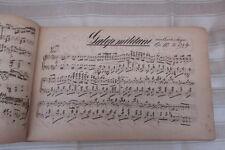 1867 großes handschriftliches Notenbuch / teils Liedertexte - komplett im Inhalt