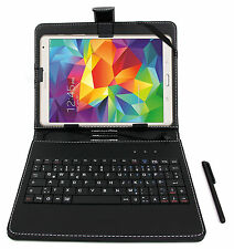 Black Faux Leather Case w/ German Keyboard For Samsung Galaxy Note 8.0 / Pro 8.4