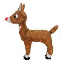Christmas Outdoor Decorations Rudolph Red Nosed Reindeer Lighted Yard Decor Out