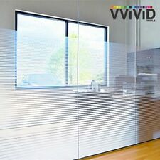 """36"""" x 6ft VViViD White Line Frosted Privacy Window Vinyl Film Home Decor Glass"""