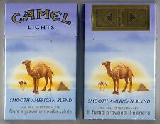 CAMEL LIGHTS cigarette Duty Free empty box '90 - Il fumo provoca... - very good