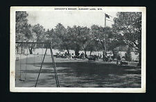 Elkhart Lake Wisconsin WI c1940s Osthoff's Resort Lakeside, Swing Set, Picnic On