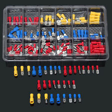 120Pcs Insulated Electrical Wire Terminals Crimp Connector Spade Kit Assortment