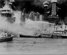 US Navy Pearl Harbor Ships Bombing Japanese World War 2 Reprint Photo 6x4 Inch