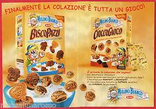 Pubblicità Advertising  BARILLA Mulino Bianco 2000 Biscopazzi e Cioccogioco