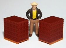 2 PALLET LOADS of RED BRICK  1/50  O Scale  On30 On3 ^      MAN NOT INCLUDED