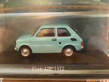 "DIE CAST "" FIAT 126 - 1972 "" + TECA RIGIDA BOX 2 SCALA 1/43"