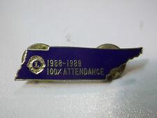 SPILLA PINS LIONS 1988-1989 100% ATTENDANCE  S-7