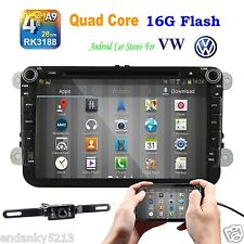 "Quad Core Android 4.4 8"" Car Stereo GPS Nav Bluetooth Radio  For Volkswagen VW"