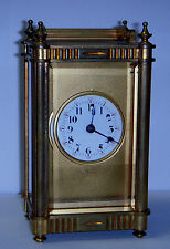 ANTIQUE BOSTON CLOCK Co. BRASS CARRIAGE CLOCK CHELSEA 8 DAY AS-IS COMPLETE