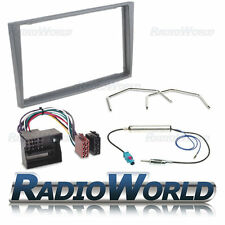 Anthracite Vauxhall Astra H Stereo Radio Fascia Panel Double Din Iso Fitting Kit