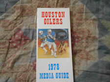 1978 HOUSTON OILERS MEDIA GUIDE Yearbook Press Book Program NFL Football AD
