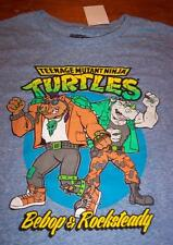 VINTAGE STYLE TEENAGE MUTANT NINJA TURTLES BEBOP ROCKSTEADY T-Shirt SMALL  NEW