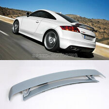 Unpainted FRP Rear Trunk Spoiler Boot Wing Lip Fit For Audi TT 8J 2007-2012