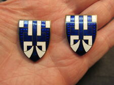 Vintage art deco Enamel Dress Dress Clips