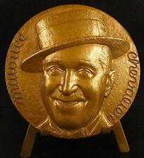 Médaille chanteur acteur écrivain parolier Maurice Chevalier 68mm singer Medal
