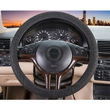 Auto SUV Truck 1 Pcs Black Decorative Elastic Ice Silk Car Steering Wheel Cover