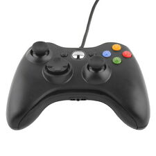 BLACK QUALITY USB WIRED CONTROLLER FOR MICROSOFT XBOX 360 PC WINDOWS NEWF7