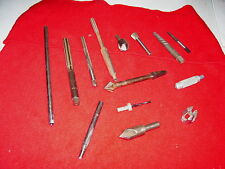 Vintage Assorted Tool Lot, Reamers, Countersinks, Punches, Acorn tap, Extractors