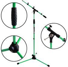 KEEPDRUM MS106 GR Grün Mikrofonständer Mikrofonstativ mit Galgen u Metall-Sockel