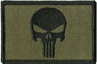 VELCRO Olive  Punisher  Military Tactical Airsoft  Morale Operator Cap Patch