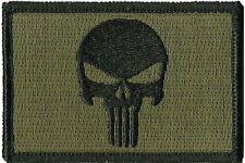 Iron on Olive Punisher  Military Tactical Airsoft  Morale Operator Cap Patch