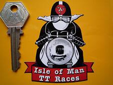 île de MAN Classique TT Races Manx GP CAFE RACER Moto Autocollant Autocollant