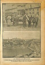 Revolution Portugal Panorama Oporto Porto Hitching Oxen  WWI 1918 ILLUSTRATION