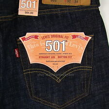 Levis 501 Jeans New Size 32 x 34 TIDAL BLUE ( Dark Blue ) Mens Button Fly #733