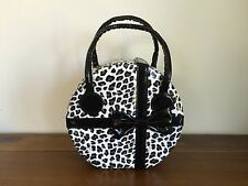 Travel Jewellery Box/Case/Handbag Leopard Print with Bow Large