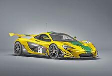 Stampa incorniciata-McLaren p1 GTR (PICTURE LAMBORGHINI PORSCHE ASTON MARTIN FERRARI)