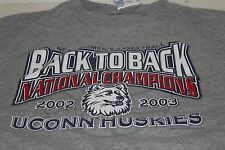 UCONN Huskies NCAA Women's Basketball Back to Back Champions 2002-2003 Size XL