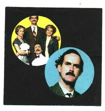 2 FAWLTY TOWERS BADGES. Monty Python, John Cleese, 70's TV, 70's comedy.